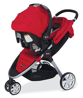 Britax Travel System Attached (Red)